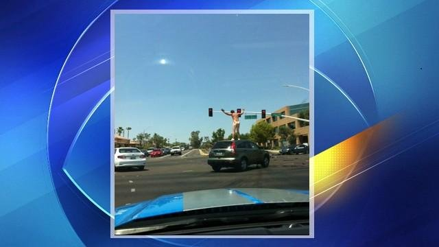 Naked carjacking suspect caught