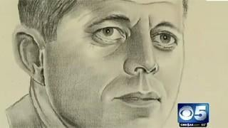 VIDEO: JFK portrait found behind old frame