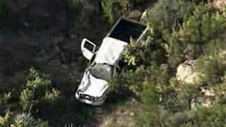 VIDEO: Truck veers off AZ cliff