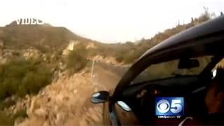 VIDEO: BMW caught crashing off AZ