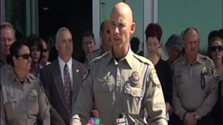 Pinal Co. Sheriff Paul Babeu addresses media