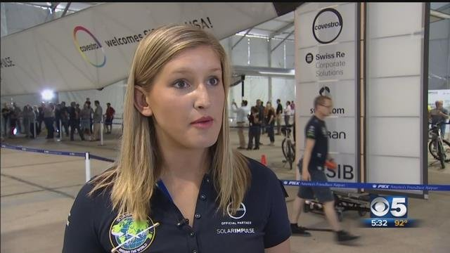Only American to help with historic solar-powered flight: 'I have the best view of the plane in the world'