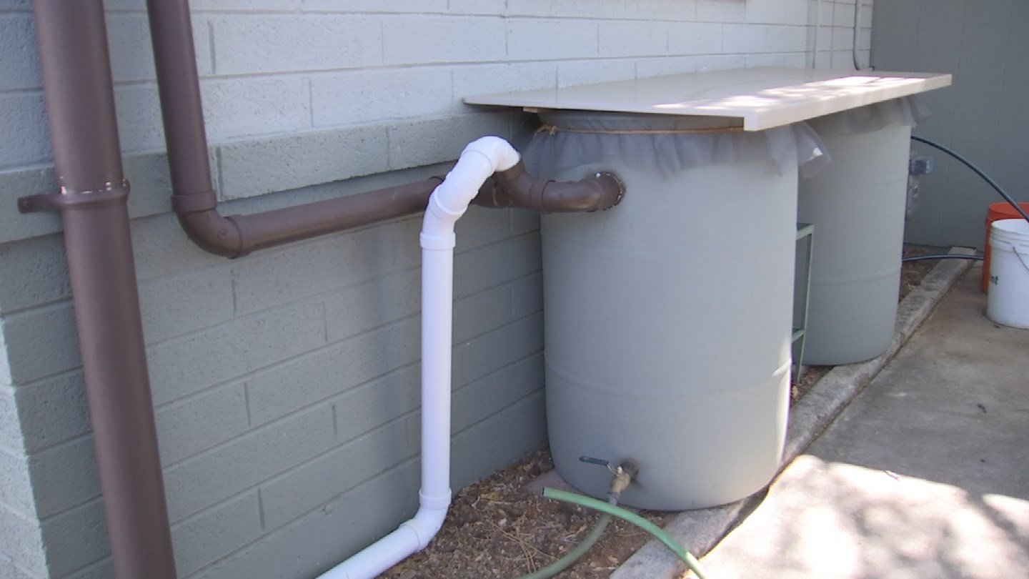 A rain barrel is an easy and cheap way to start to harvesting rain. (Source: CBS 5 News)
