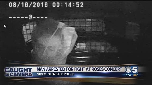 New video of man arrested at Guns N Roses concert