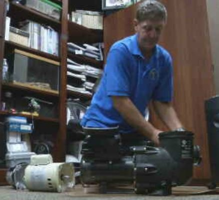 In most cases, single-speed pool motors can only be replaced with dual speed models. (Source: CBS 5 News)