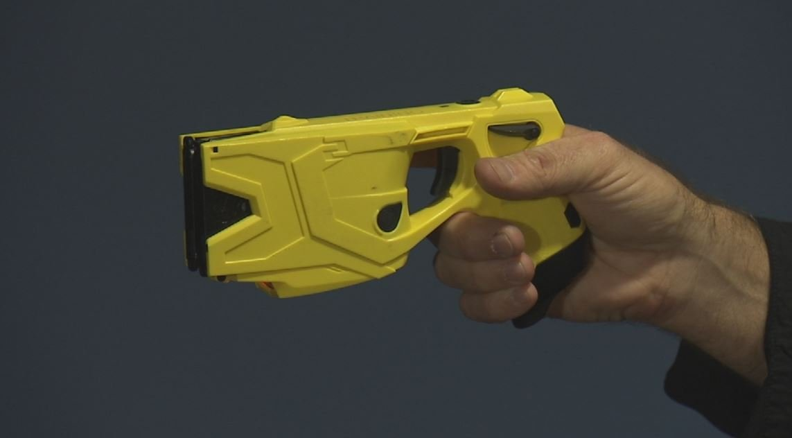 The Taser X-2. (Source: CBS 5 News)