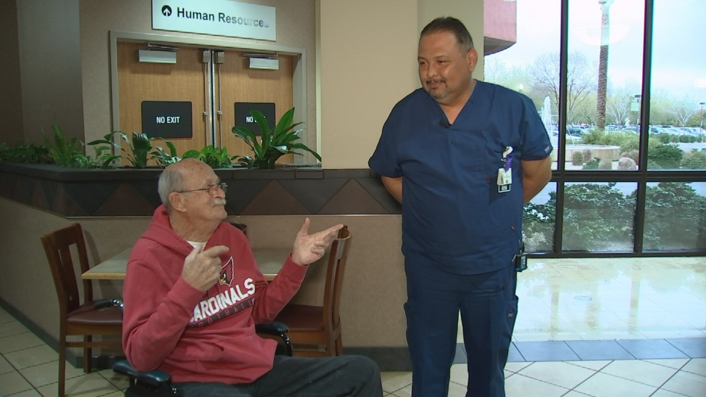 Al Piña saw that his friend Charles Reuss needed a new motorized chair and helped him out. (Source: CBS 5)