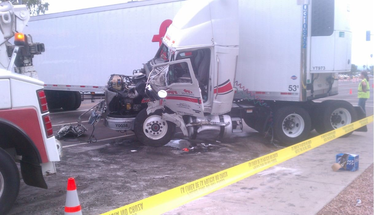 February  Accidents In Phoenix Semi And Car