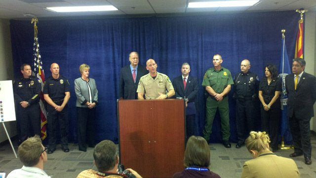 Pinal County Sheriff Paul Babeu at podium