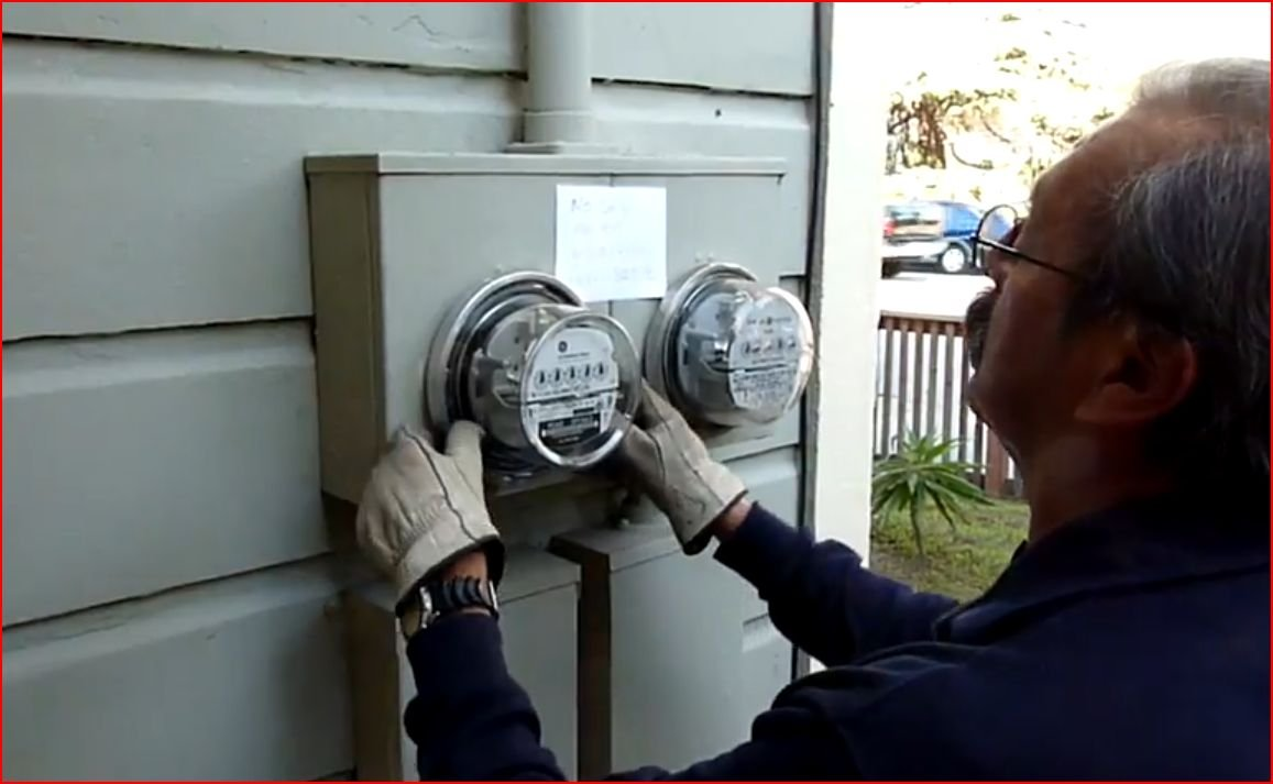 Phillips' meter being replaced