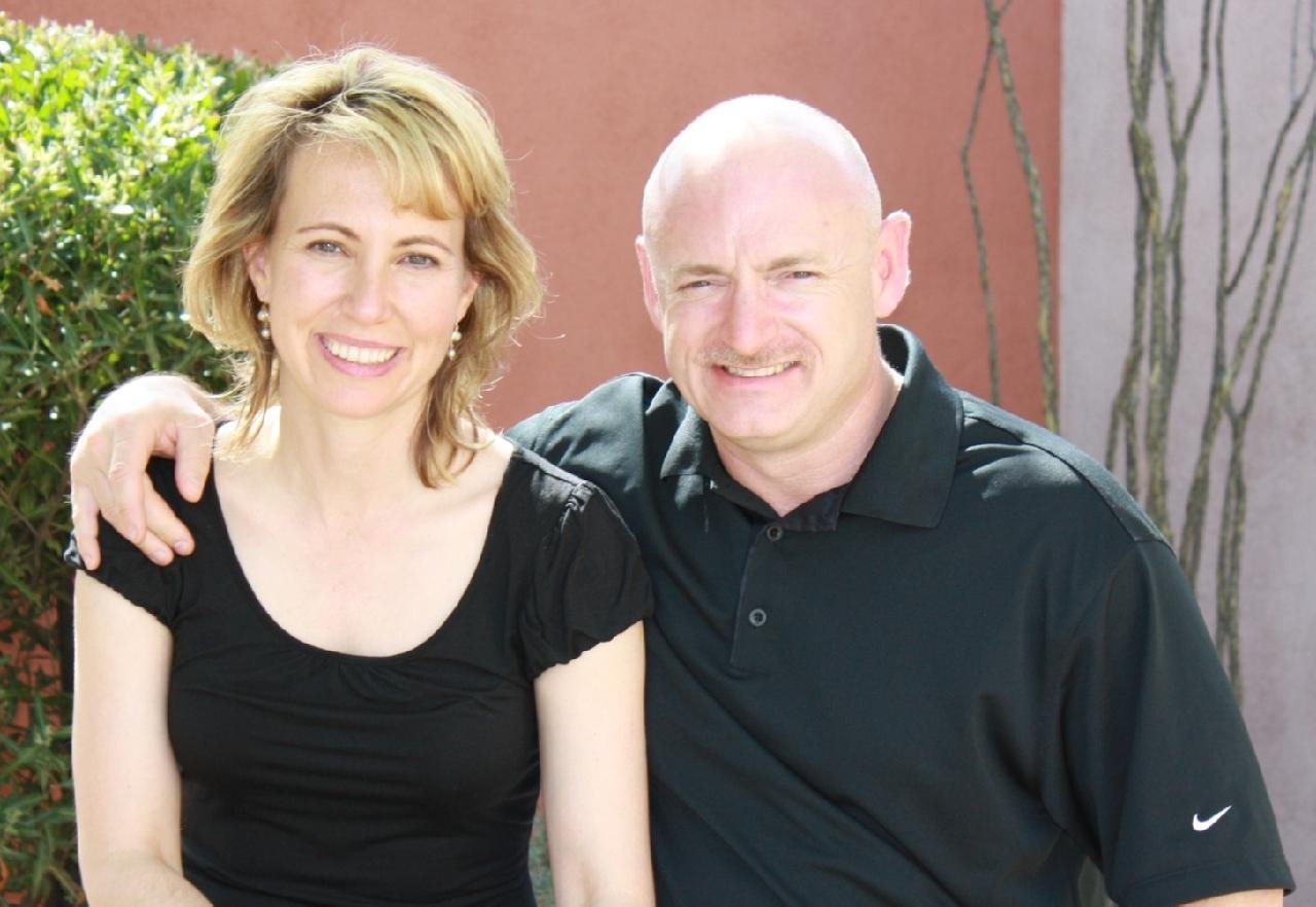 Gabrielle Giffords, left, and husband, Mark Kelly