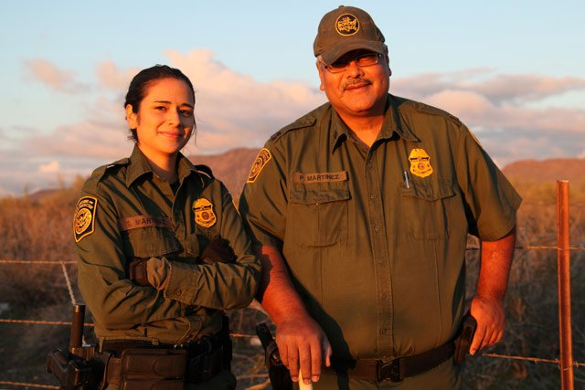 (Photo Courtesy of U.S. Border Patrol) Sara Martinez and Paul Martinez