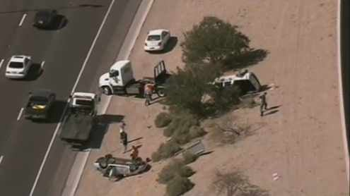 2 vehicles roll after crash on loop 202 in chandler 3tv for Department of motor vehicles chandler az
