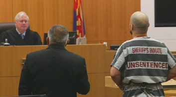 Michael Crane in court on Aug. 16, 2013 (Source: CBS 5 News)