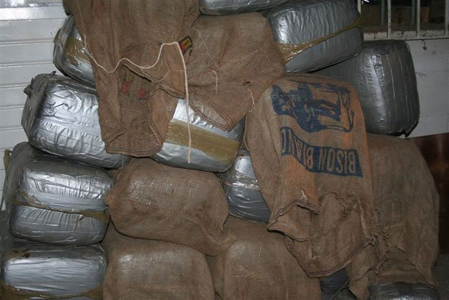 Bales of pot found in the Nogales drug tunnel