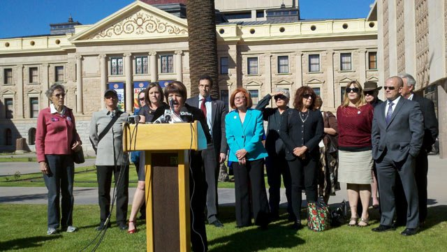 Arizona Democrats oppose a Republican bill about contraception coverage.
