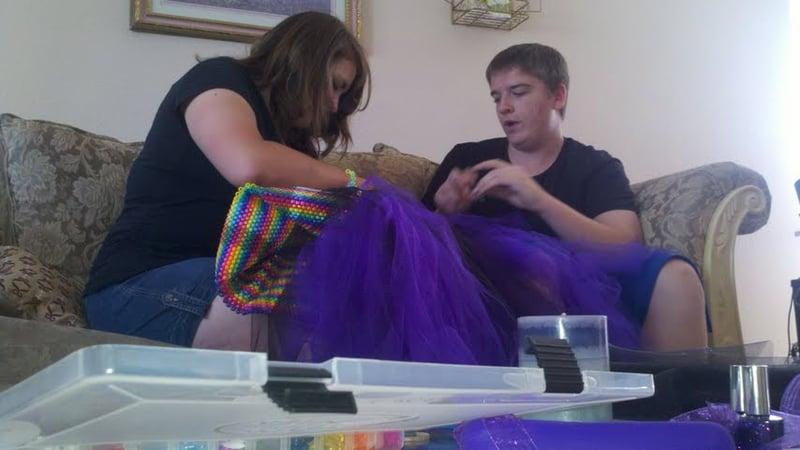 Senior makes prom dress, uses 19,000 beads - KSLA News 12 Shreveport ...