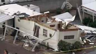 Mobile home damage in Mesa