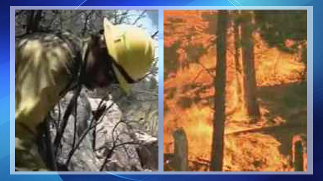 Crews battle Gladiator Fire