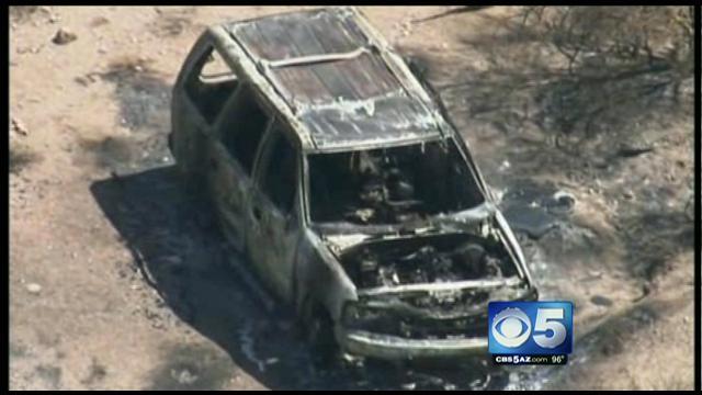 Burned vehicle