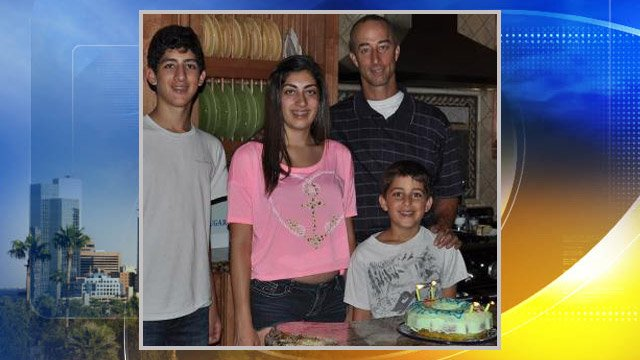 James Butwin celebrated his 47th birthday with his children on Friday.