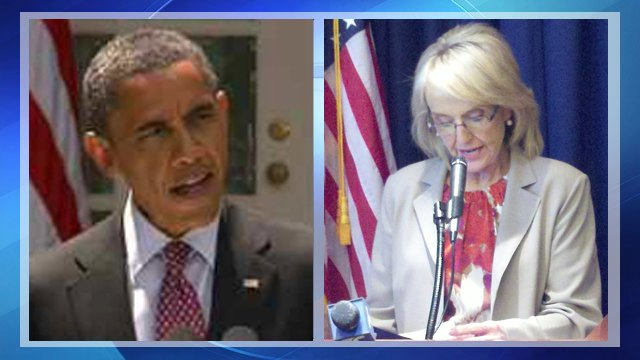 President Obama, Gov. Jan Brewer