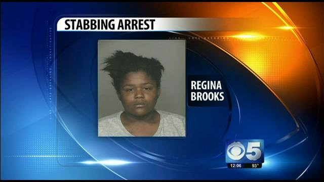 Regina Brooks, 19, was booked for aggravated assault.