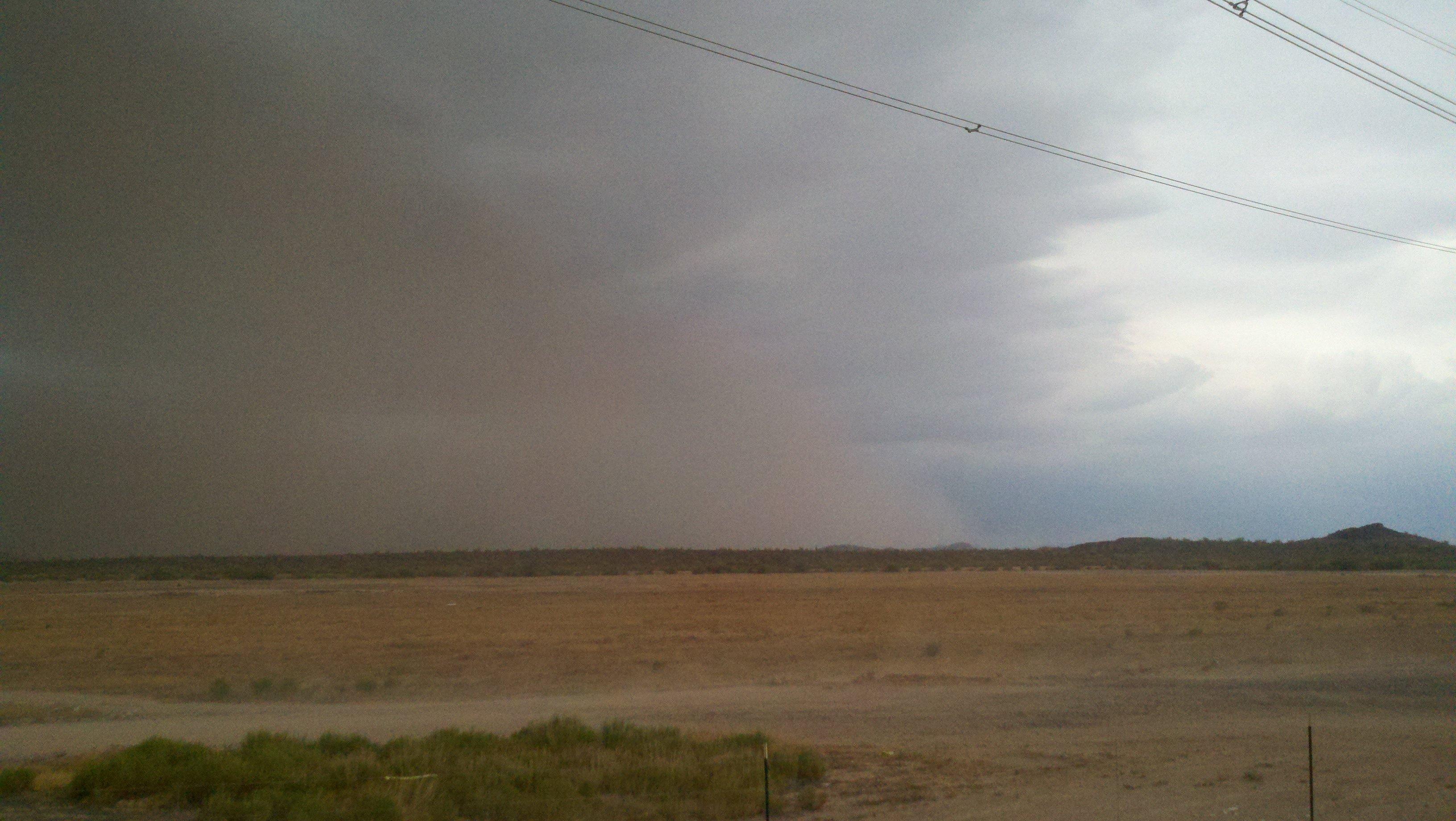 Dust storm near Florence/Sean Gates, cbs5az.com