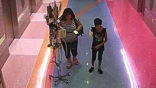 Surveillance cameras captured Emily being taken by her mother.