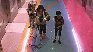 Surveillance cameras captured Emily being taken by her mother.