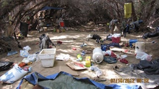 Living conditions at the camp