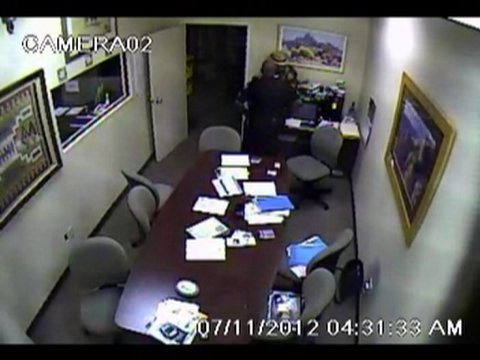 © Surveillance video of Sgt. Arnold Davis