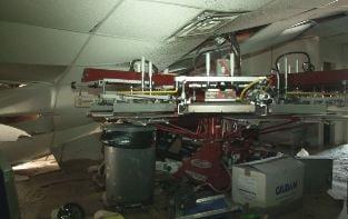Gilbert Fire Department shot video inside Tees & More
