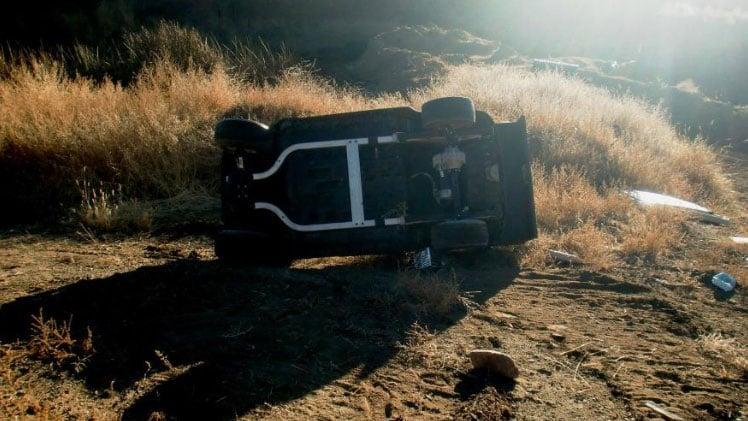 Golf carts damaged