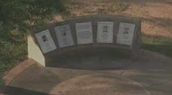 This memorial was created in Steele Indian School Park to honor the victims.