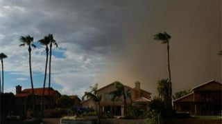 Sunday's dust storm. Viewer-submitted photo from Kellie Kerschen in Gilbert.
