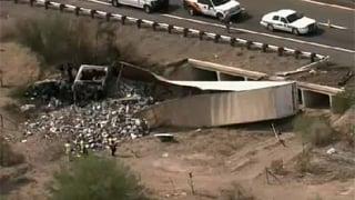 Crash scene near Salome
