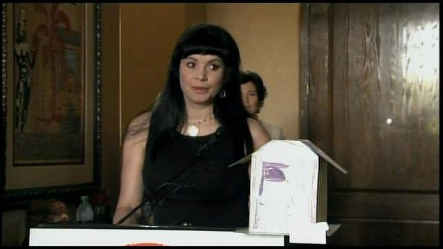 Dina Shacknai during a news conference last month announcing a non-profit she's starting in her son's honor.