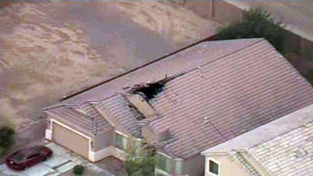 Lightning struck this house in Maricopa