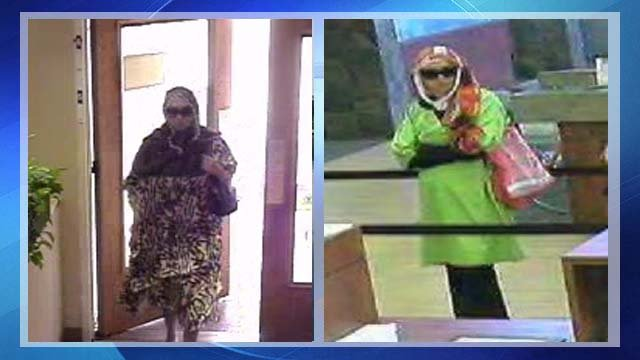 Surveillance photo of woman in two of the East Valley robberies.