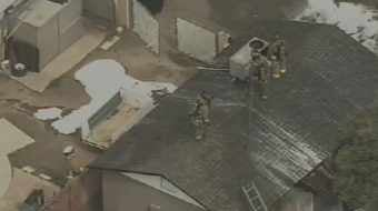 CBS 5 News chopper at the scene near 57th Avenue and Morten in Glendale.