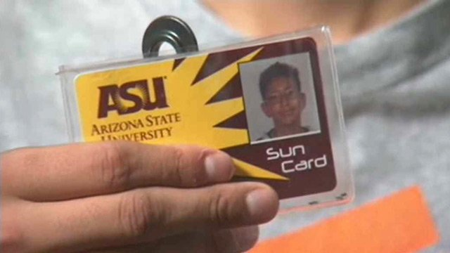 Javier Urcuyo has his own ASU Sun Card.