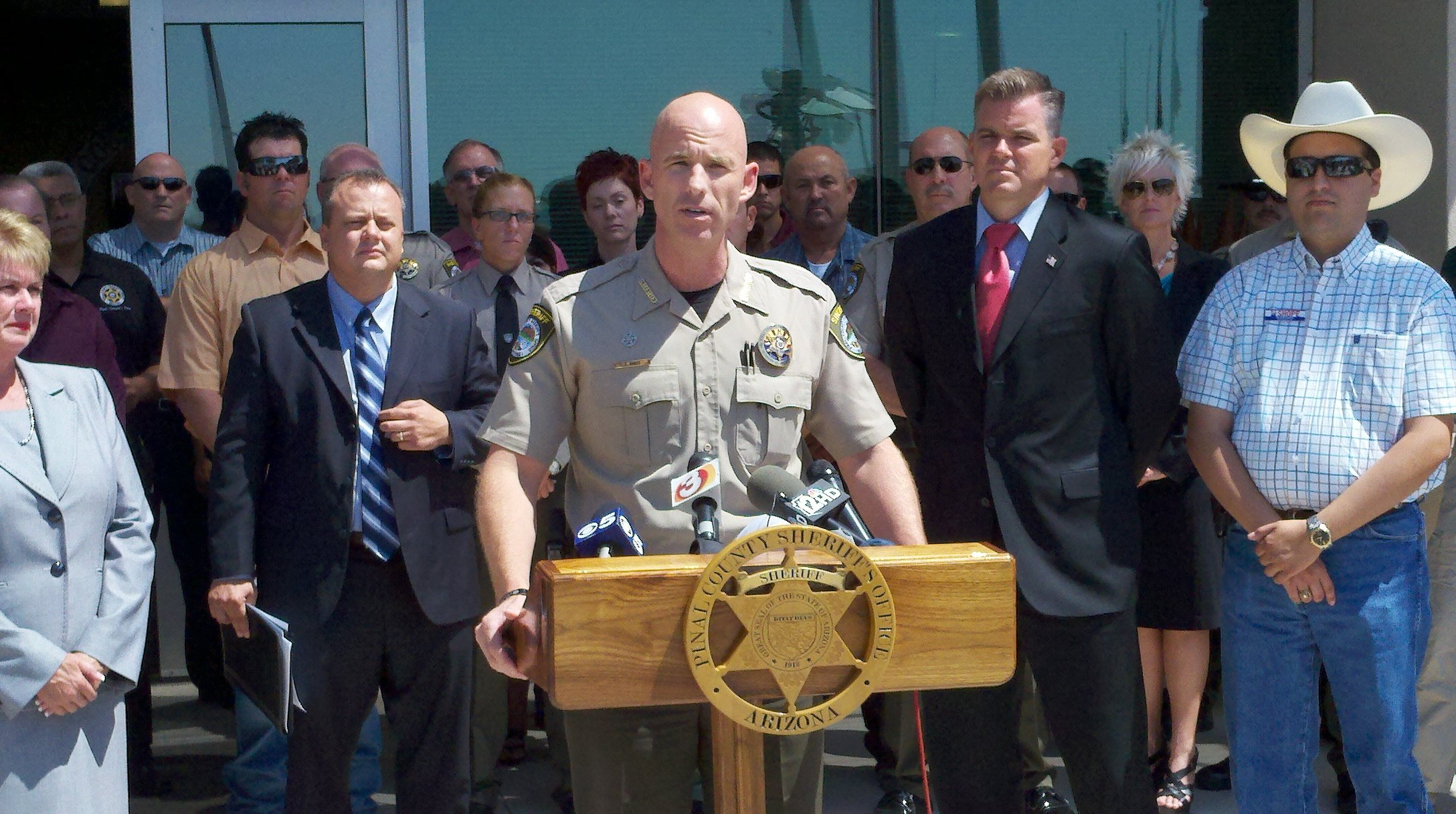 Sheriff Babeu held a news conference on Friday responding to the results of the investigation.