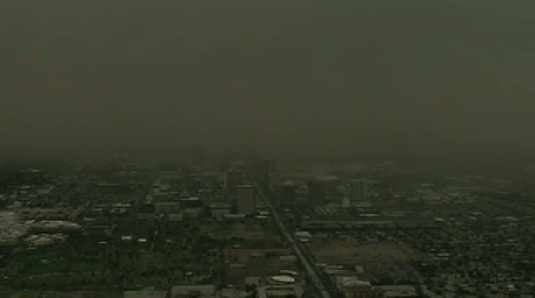Dust storm over uptown Phoenix on Thursday night.
