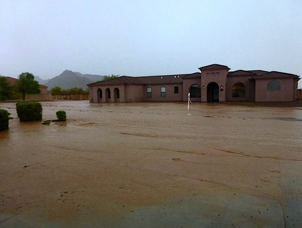 Home flooded in San Tan Valley