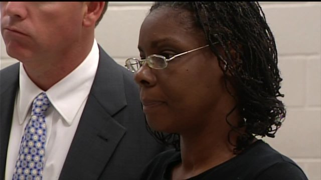 Jerice Hunter appears in court Sept. 7 and is accused of killing her 5-year-old daughter Jhessye Shockley.