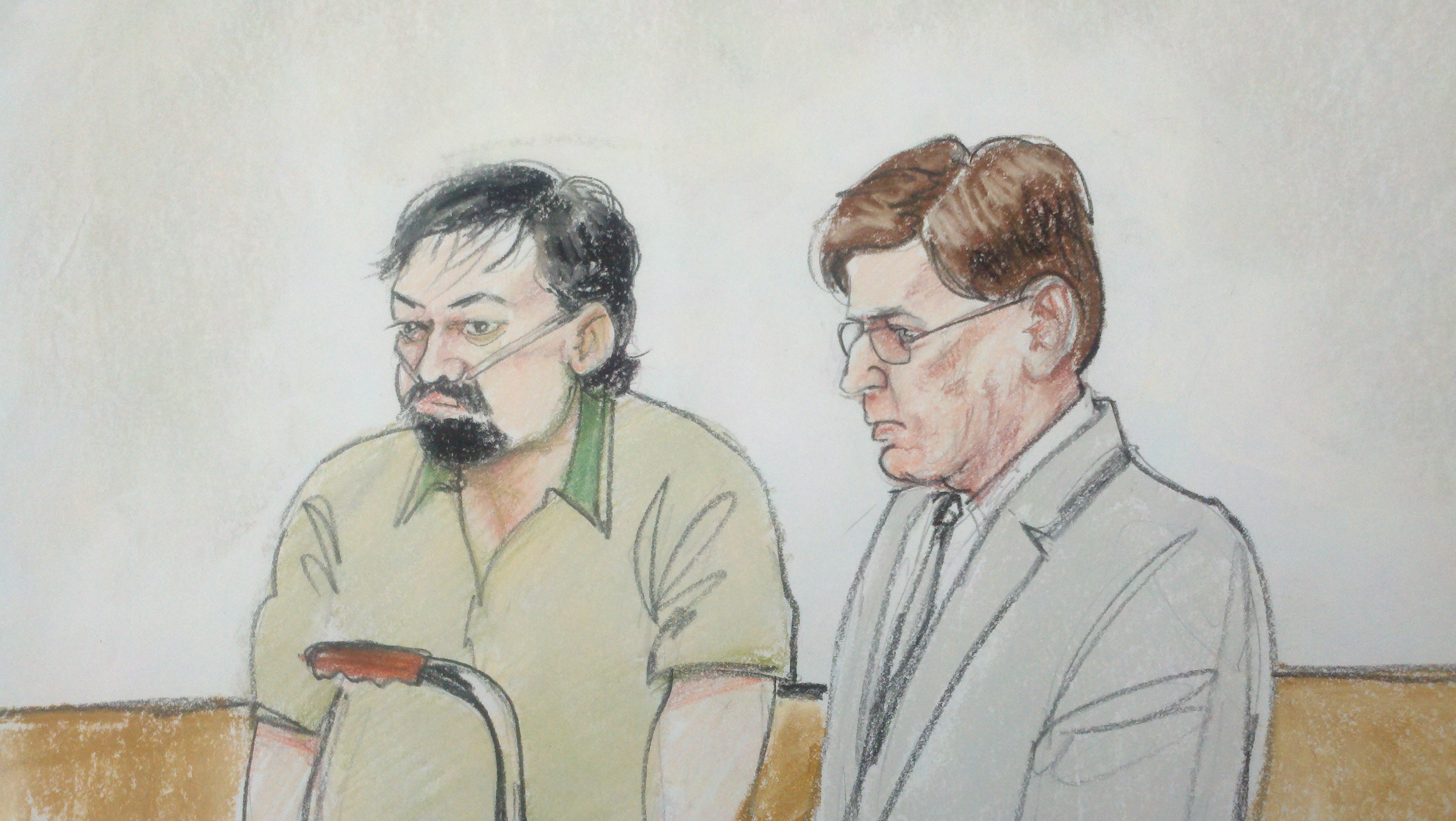 Gary Vogt in court Friday afternoon (Source: Donna Ross, cbs5az.com)