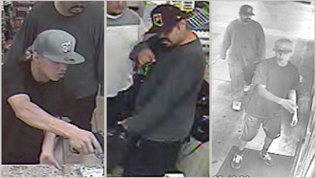The suspects walked into a Tumbleweed station at 2600 W. Indian School Road on July 17 and walked directly to the counter, where one of the suspects pointed a handgun at an employee and demanded money.