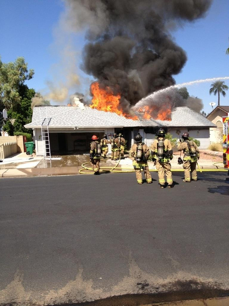 Neighbors provided Mesa fire officials with these photos.