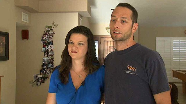 Andrea Convey, left, and her husband, Mason, feel vindicated because Nissan is buying back their all-electric car.